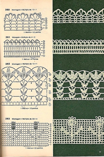 Crochet Lace. No. 3 and 4