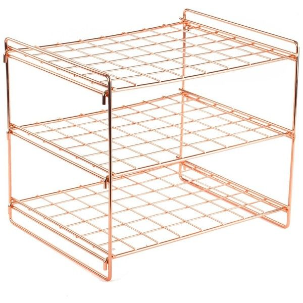 Design Ideas Copper Lincoln Magazine Rack (71 SAR) ❤ liked on Polyvore featuring home, home decor, small item storage, copper, copper home accessories, modern magazine rack, copper magazine holder, modern magazine holder and modern home accessories