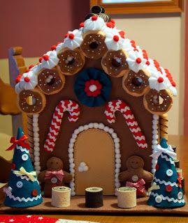 Gingerbread house de fieltro