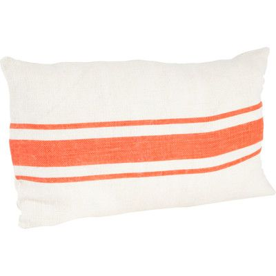 Beachcrest Home Fairfax Striped Design Jute Throw Pillow Color: