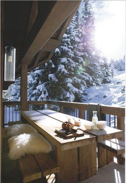 The best breakfast view.