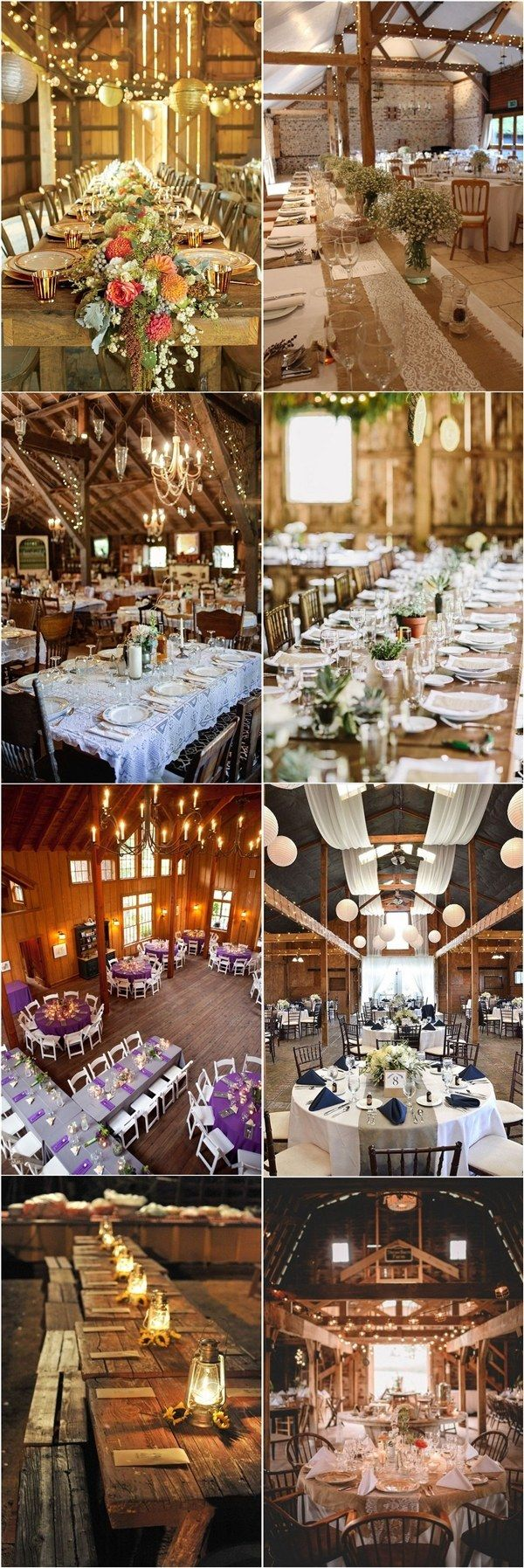 Rustic Barn Wedding Reception Table Setting Ideas / http://www.deerpearlflowers.com/barn-wedding-reception-table-decoration/