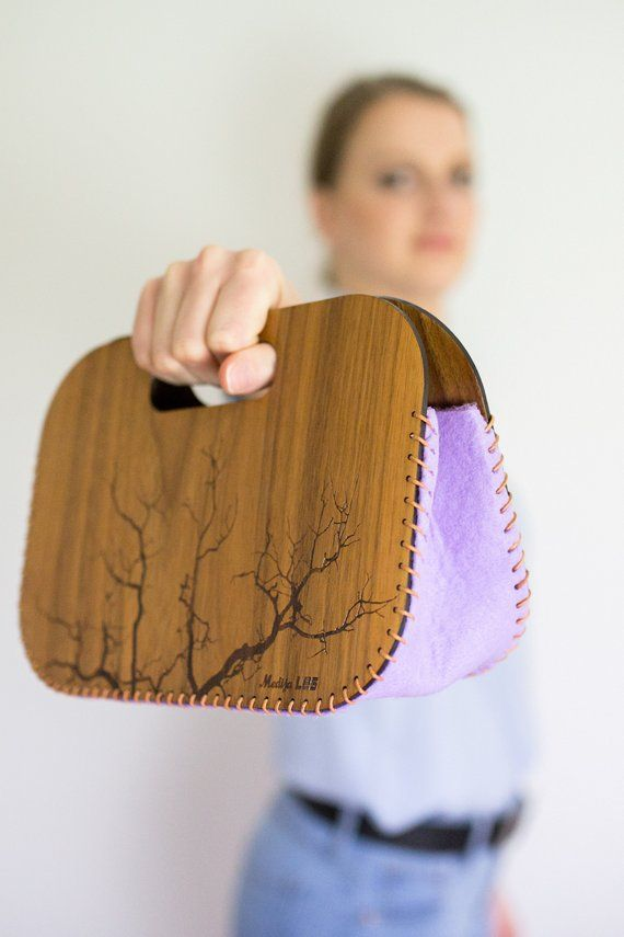 Gifts for bestfriend / Nature lover gift / Bridesmaids clutch / Wooden bag, hand…