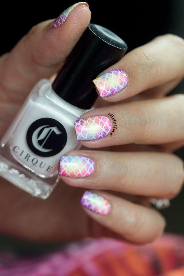 Rainbow Mermaid Nails
