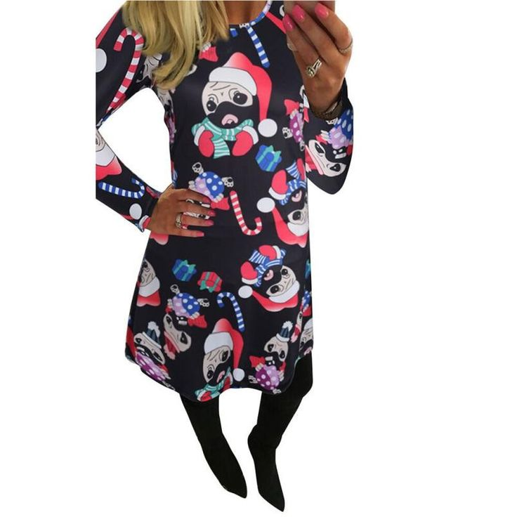 Now available on our store: Fashion Women 's ... Check it out here! http://toutabay.com/products/fashion-women-s-christmas-print-dress?utm_campaign=social_autopilot&utm_source=pin&utm_medium=pin