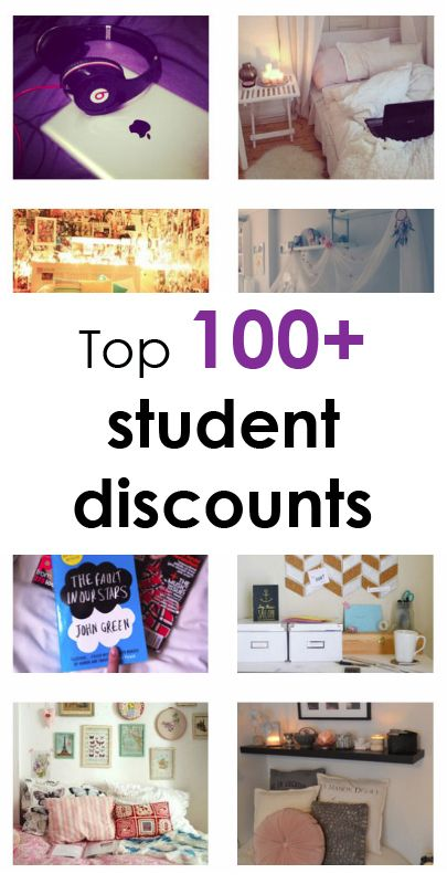 Top 100 student discounts... MUST pin <3