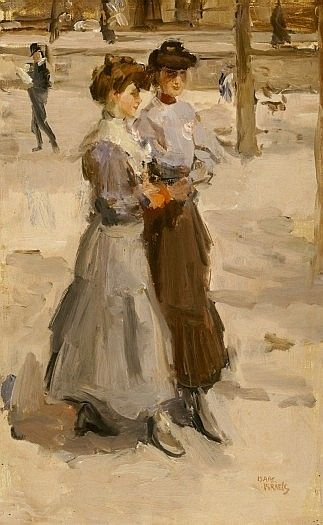 Two girls - Isaac Israels (1865 - 1934) in the K.M.