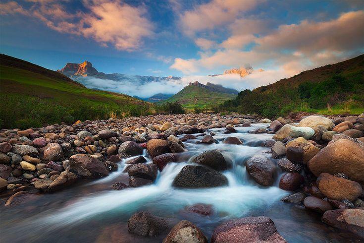 Drakensberg Sunrise by hougaard.deviantart.com on @deviantART