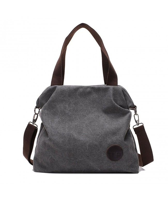 538d5a24b9 Women Casual Canvas Shoulder Bags Cross-Body Bag Messenger Bag Tote Bags -  1 - Grey - CU12NGCSIHN  Bags  Handbags  Crossbodybags  gifts  Style