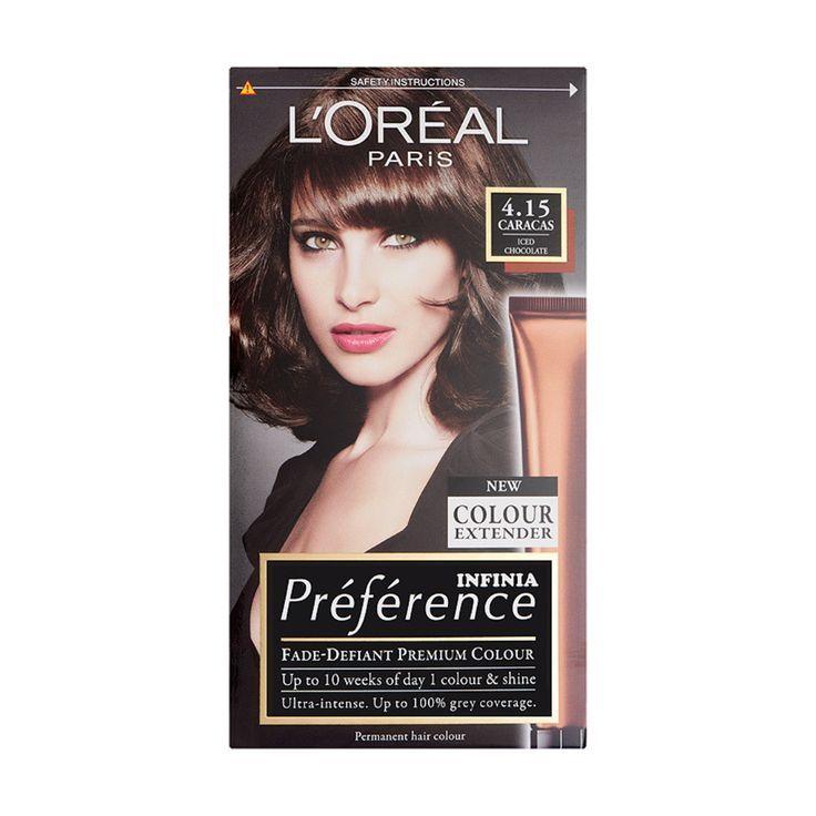 Loreal Paris Preference Infinia 4 15 Caracas Iced Chocolate Hair Dye Hair Color Chocolate Loreal Paris Hair Loreal Paris Hair Color