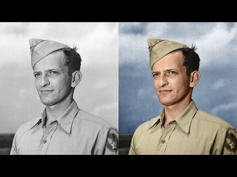 How to Colorize a Black and White Photo in Photoshop video tutorial - Phlearn.com #colorizing