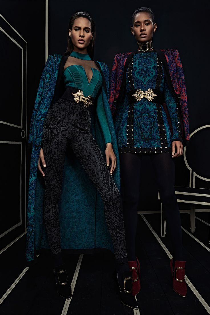 Ready-To-Wear Collection via Designer Olivier Rousteing | Modeled by Cindy Bruna and Ysaunny Brito | January 25, 2016; New York