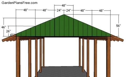 20x40 Rv Carport Plans Free Pdf Download Free Garden Plans How To Build Garden Projects In 2020 Carport Plans Rv Carports Wooden Carports