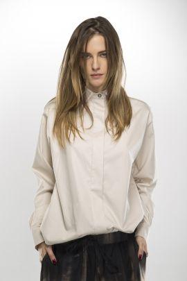Beige shirt | Adelina Ivan Studio