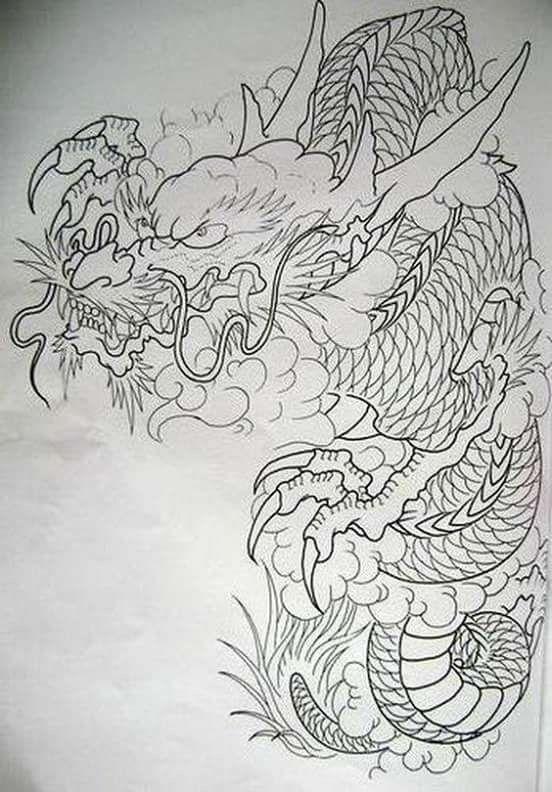 oltre 25 fantastiche idee su tatuaggi di drago giapponese su pinterest drago giapponese. Black Bedroom Furniture Sets. Home Design Ideas