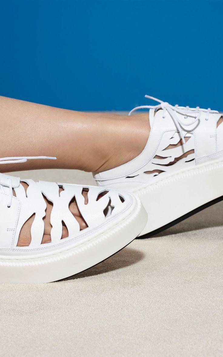 Sneaker Tiger Stripes, WHITE, KENZO