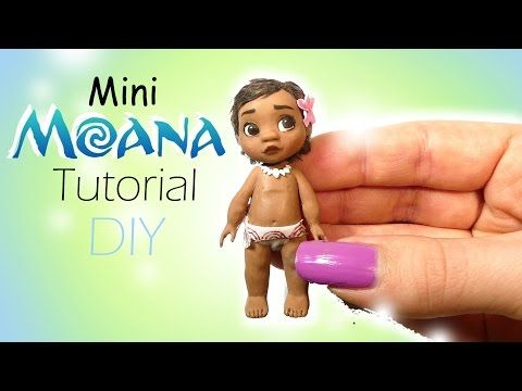 Disney's Moana Inspired Doll Tutorial // Miniature DIY - YouTube