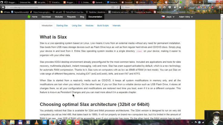 Přenosný operační systém na míru Linux slax