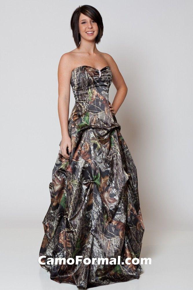 12 best camo prom images on pinterest camo prom dresses for Mossy oak camo wedding dress