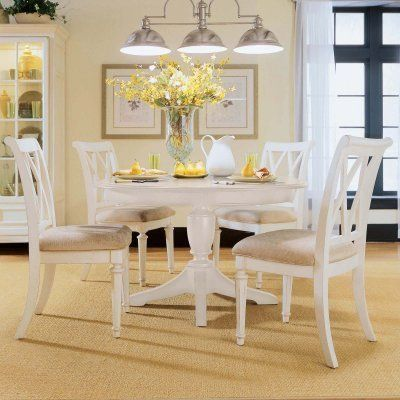 American Drew Camden White Dining Side Chairs