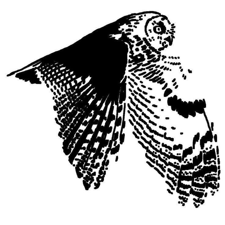 Owl — tattoo, tattoos, inspiration, woodcut, illustration — Daily Black & White Illustration
