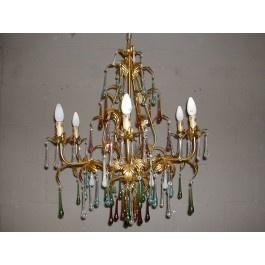 Stunning  Mason Jar Chandelier Lamp