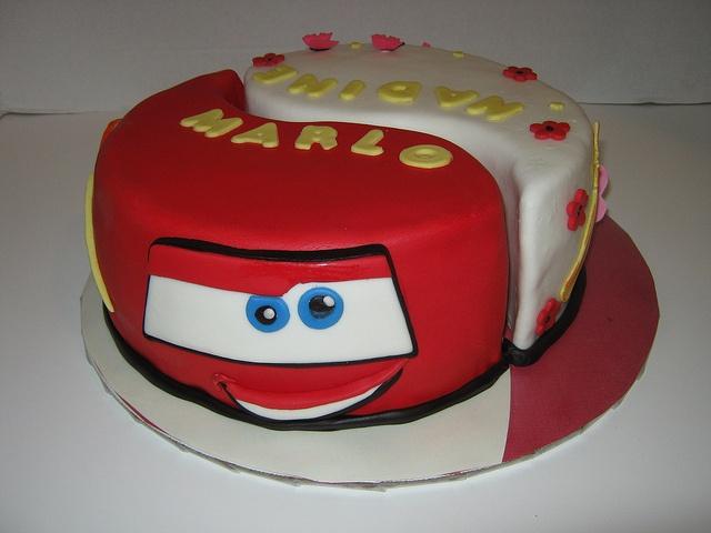 Twin or boy and girl cake