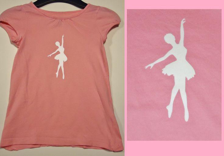 DIY roze t-shirt met witte prima ballerina!