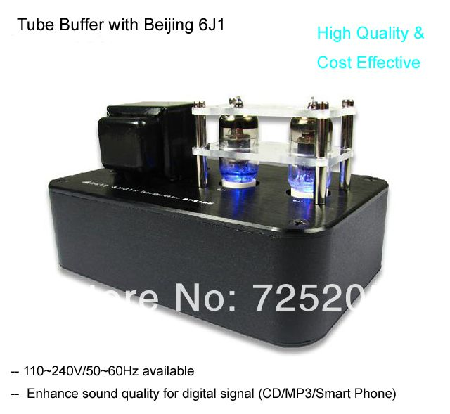 HIFI Tube Buffer Amplifier  Voltage Amplified  6J1 adopt Cathode Output Cost Effective Free Shipping $87.00
