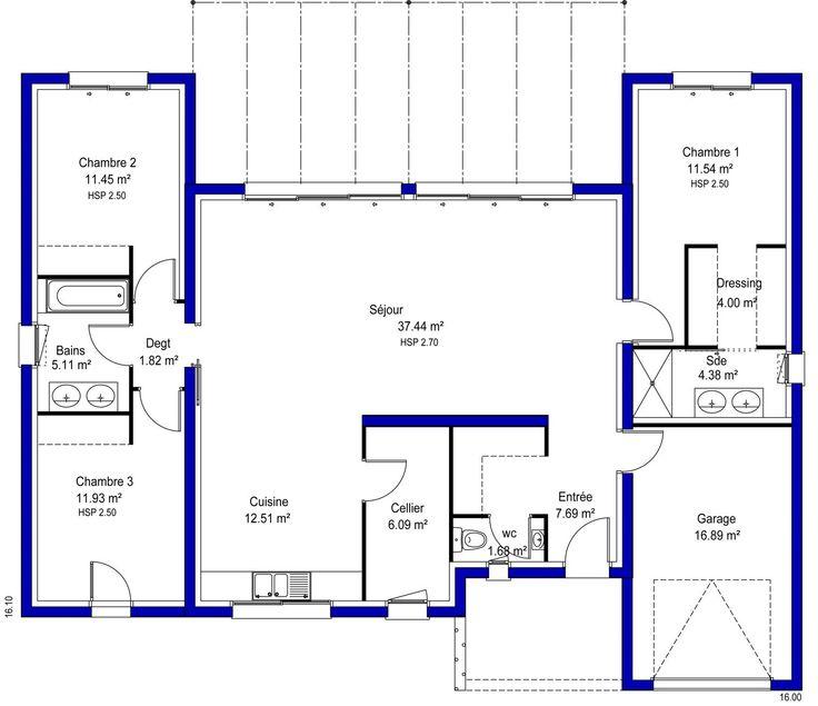 103 best images about plans de maison on pinterest villas house design and small modern. Black Bedroom Furniture Sets. Home Design Ideas