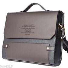 New Men Briefcase Business Shoulder Leather Bag Men Messenger Bags Handbag