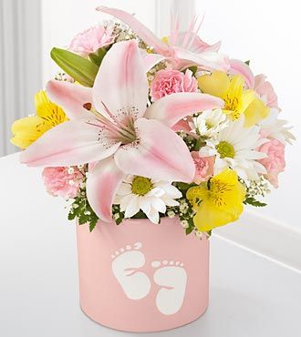 Beautiful flowers to send after a baby is born.