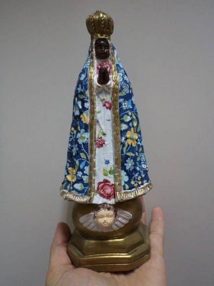 Nossa Senhora Aparecida decoupage em guardanapo R$ 39,00