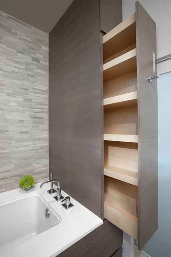 Kleines Bad aufbewahrung wanne schublade  #aufbewahrung #bathroomdesignideas #kl… – Badezimmer Ideen – #Aufbewahrung