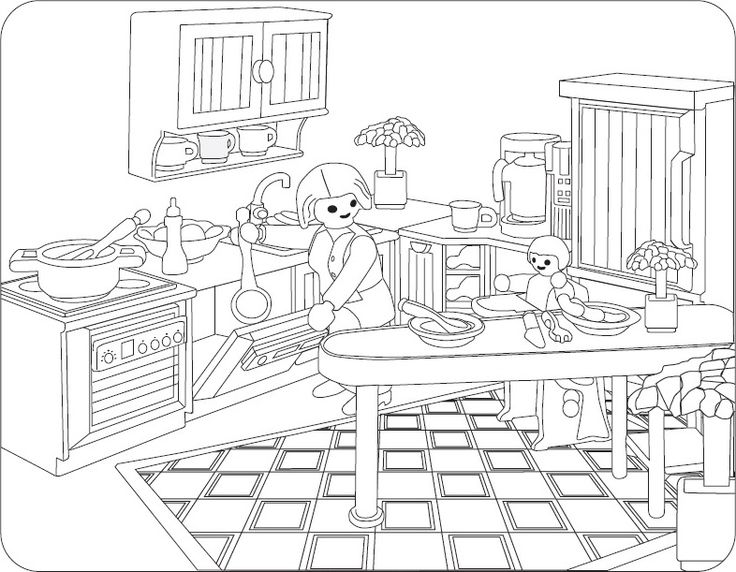 ausmalbilder playmobil puppenhaus | playmobil ausmalbilder