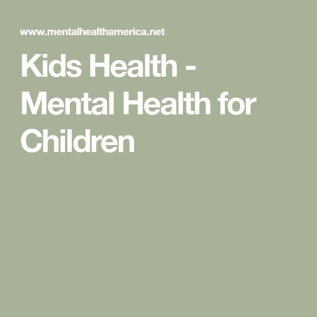 Kids Health - Mental Health for Children