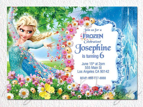 Frozen Birthday Invitation Frozen Birthday Party by BogdanDesign, $9.00
