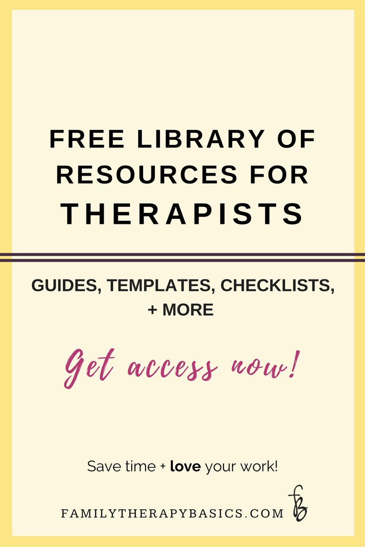 Want access to resources to simplify your work, organize your therapy sessions, and keep you on track? This library for therapists includes guides, checklists, templates, and more . . . for free!