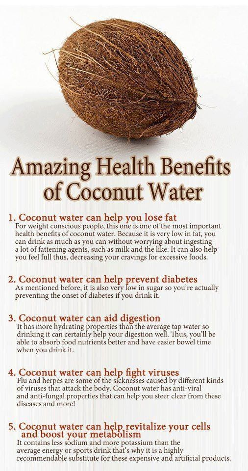 Amazing Health Benefits of Coconut Water