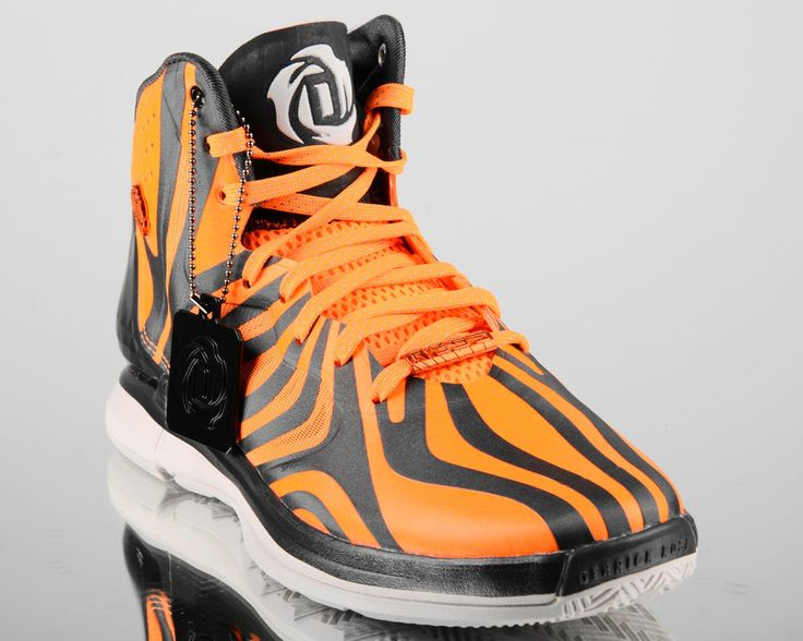 adidas D Rose 4.5 Tiger Solar Zest men basketball shoes 4 drose NEW black orange #adidas #BasketballShoes