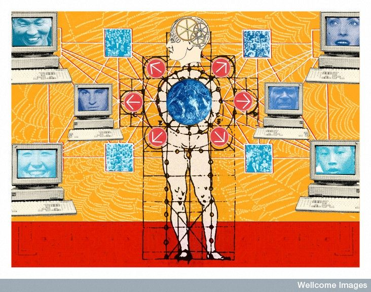 Illustration depicting telemedicine, Wellcome Images, London