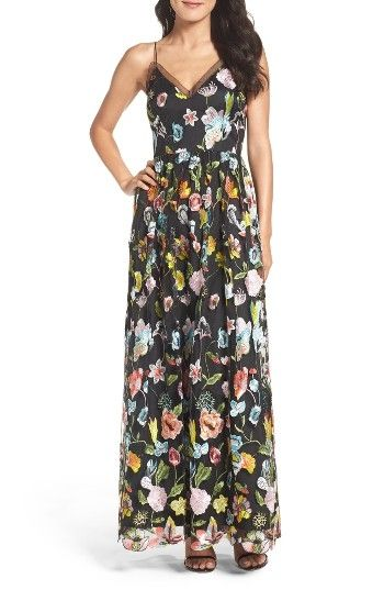 Aidan by Aidan Mattox Embroidered Gown by womens-dresses