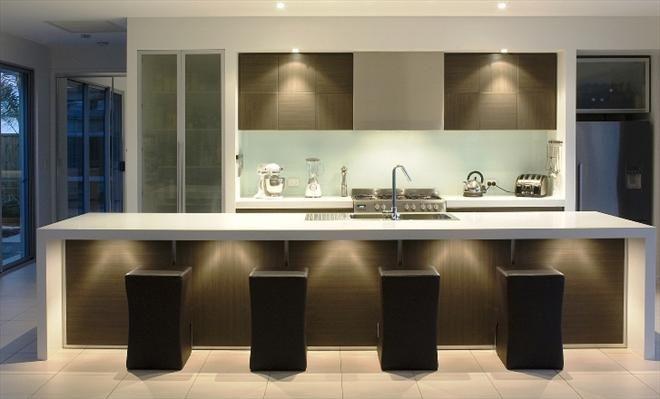 'Luna White' benchtop - Fresh Kitchens QLD : Residential Gallery : Gallery : Quantum Quartz, Natural Stone Australia, Kitchen Benchtops, Quartz Surfaces, Tiles, Granite, Marble, Bathroom, Design Renovation Ideas. WK Marble & Granite Pty Ltd Australia.