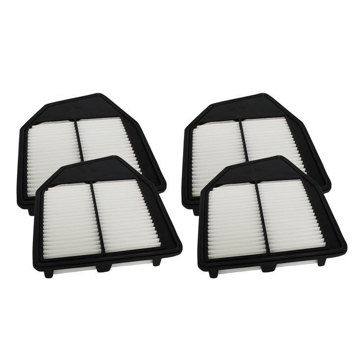 Crucial 4 Rigid Panel Air Filters Fit Honda Compare to Part # A36309 and CA10467 (car filter), Black