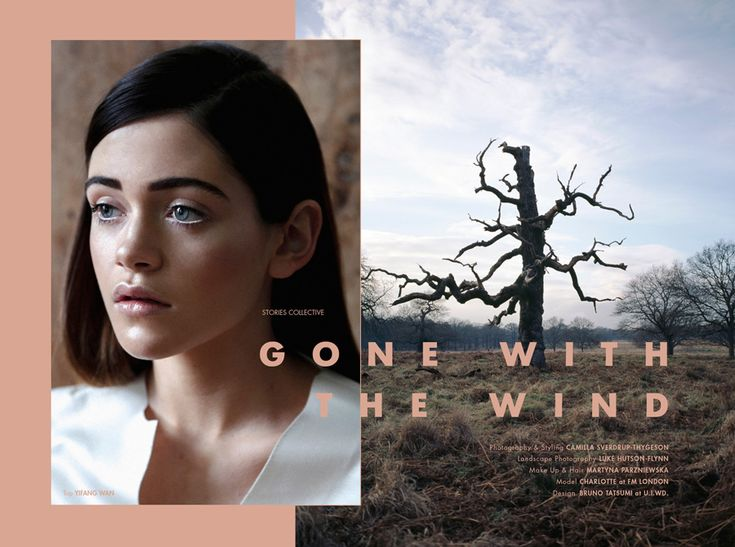 Stories Collective / Gone with the Wind / Photography & Styling Camilla Sverdrup-Thygeson / Landscape Photography Luke Hutson-Flynn / Make up & Hair Martyna Parzniewska / Model Charlotte at FM London /  Design Bruno Tatsumi at U.I.WD.
