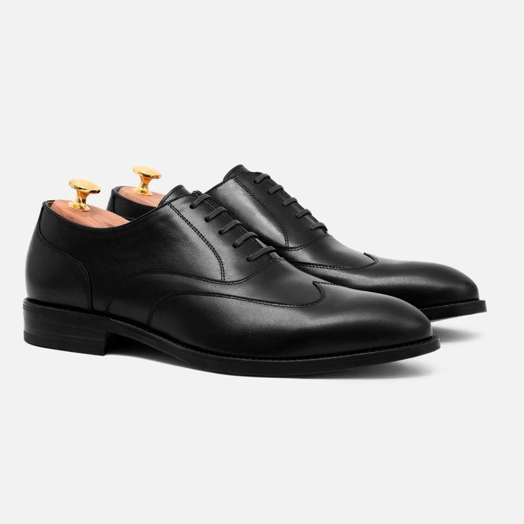 Wright Austerity Brogue - Calfskin Leather - Black