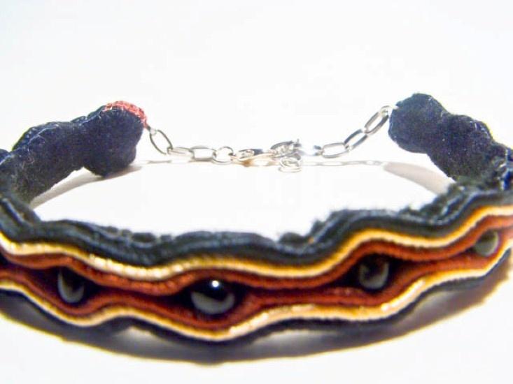 Uni Black and Brown Soutache Bracelet