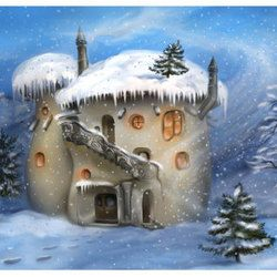 Зимний фантазийный домик