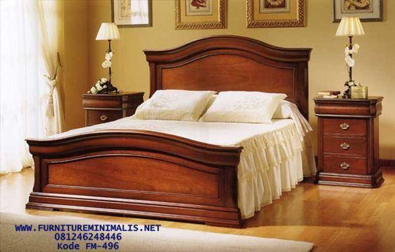 Kamar Tidur Jati Termurah, Ranjang Jati Natural, Tempat Tidur - Furniture Minimalis Jepara