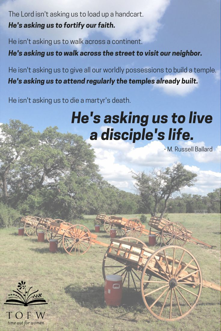 We can live a disciple's life in honor of those pioneers who came before.